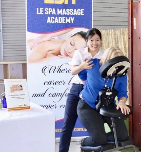 Coporate and Chair Massage At Le Spa Massage Academy